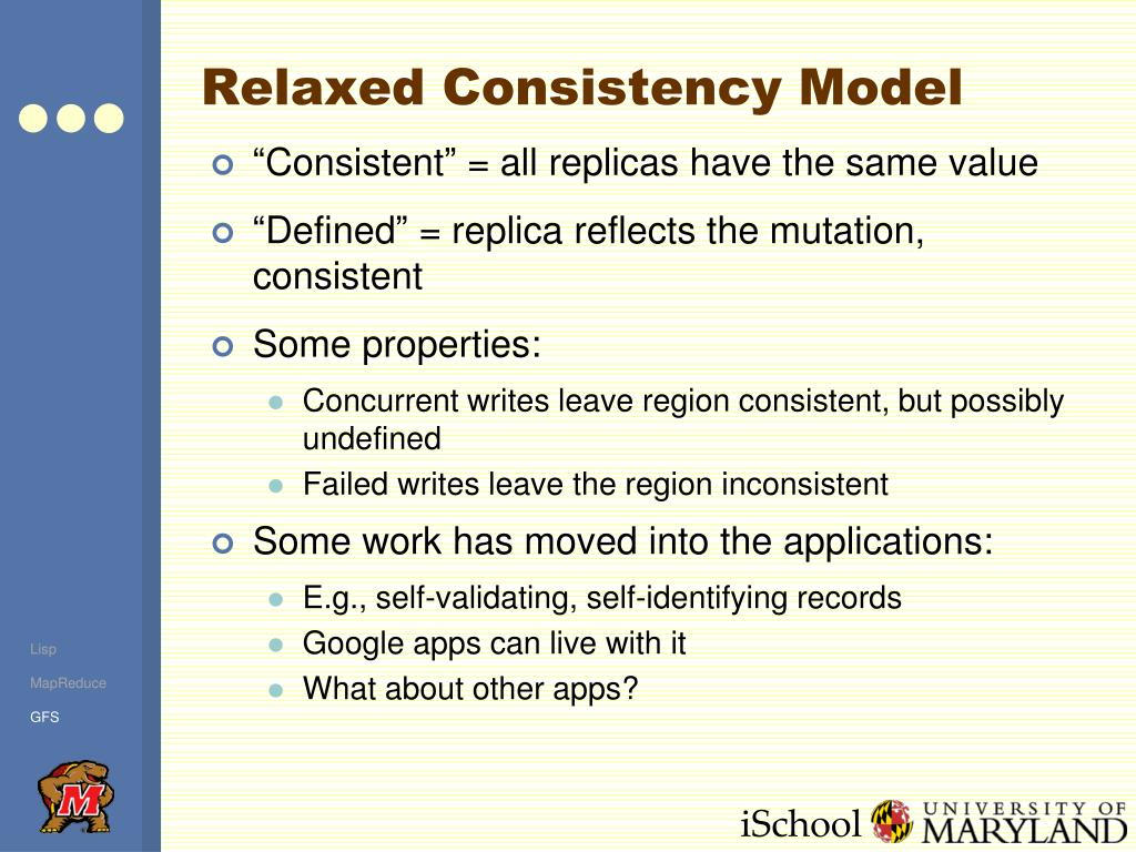 Relaxed Consistency Model
