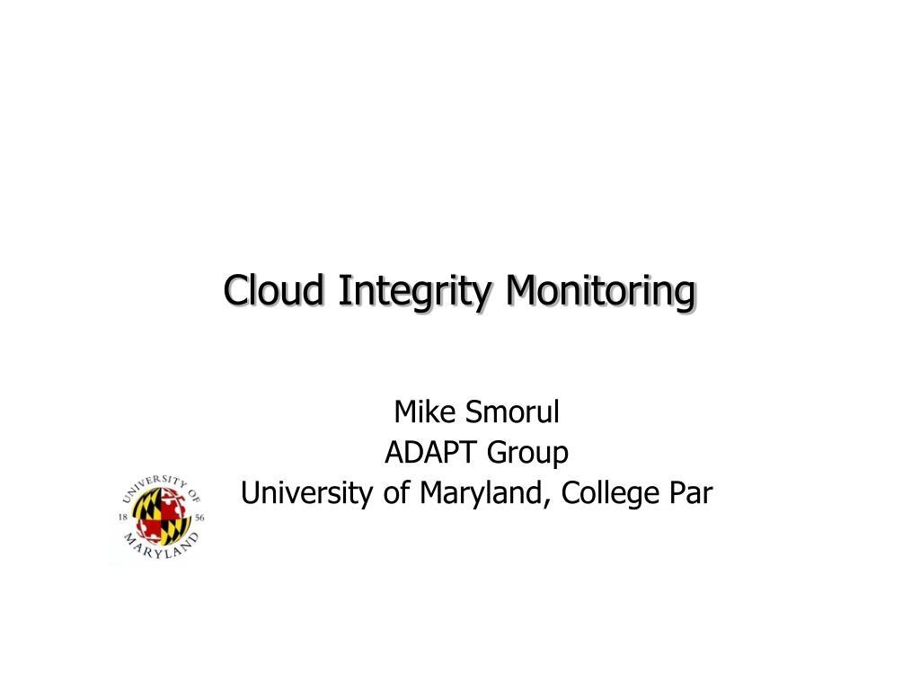 Cloud Integrity Monitoring