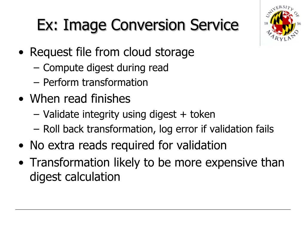 Ex: Image Conversion Service