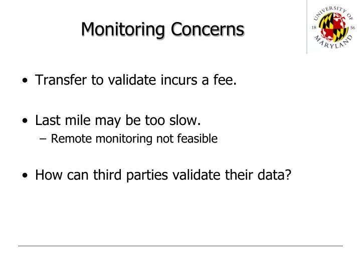 Monitoring concerns