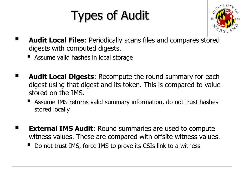 Types of Audit