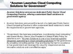 acumen launches cloud computing solutions for government