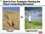 how is your company viewing the cloud computing movement