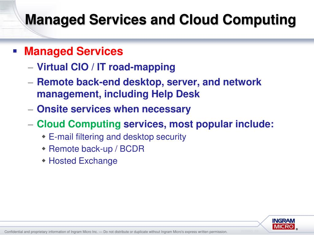 Managed Services and Cloud Computing