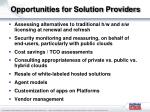 opportunities for solution providers