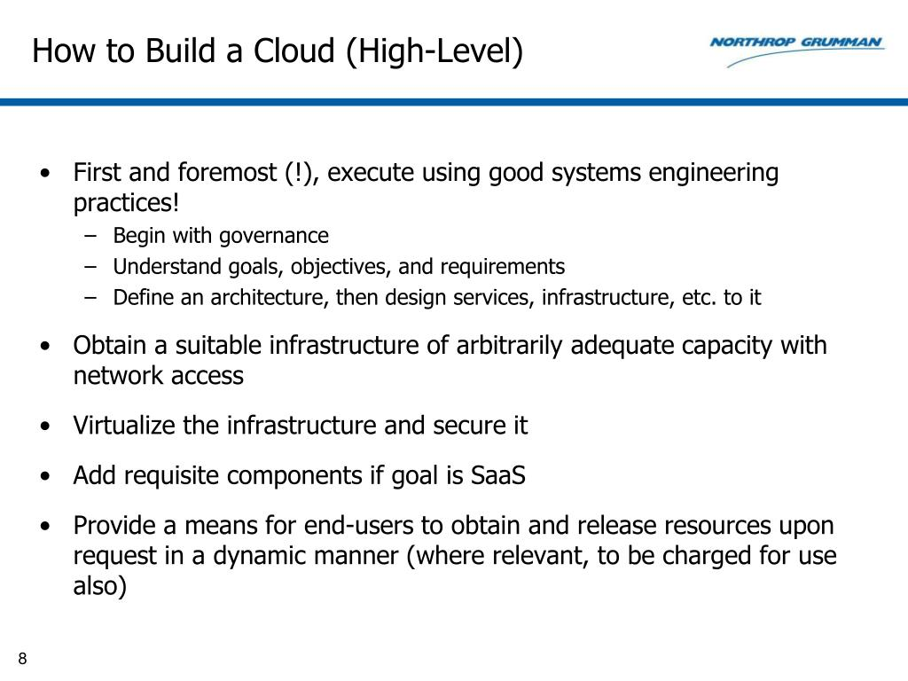 How to Build a Cloud (High-Level)