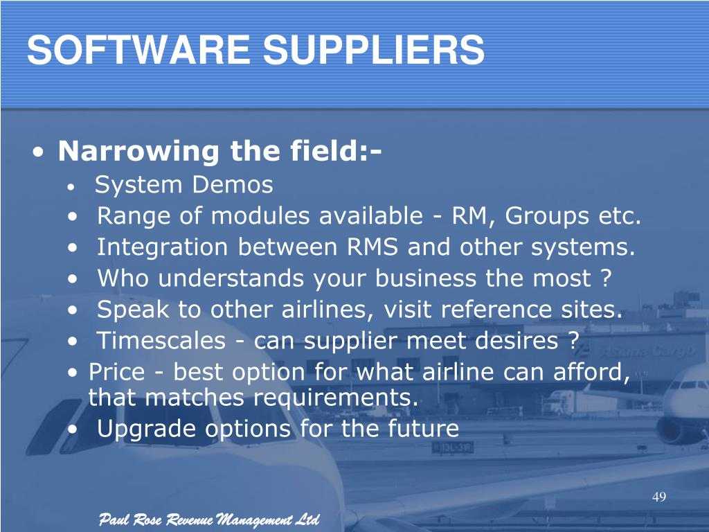 PPT - Revenue Management in the airline industry PowerPoint
