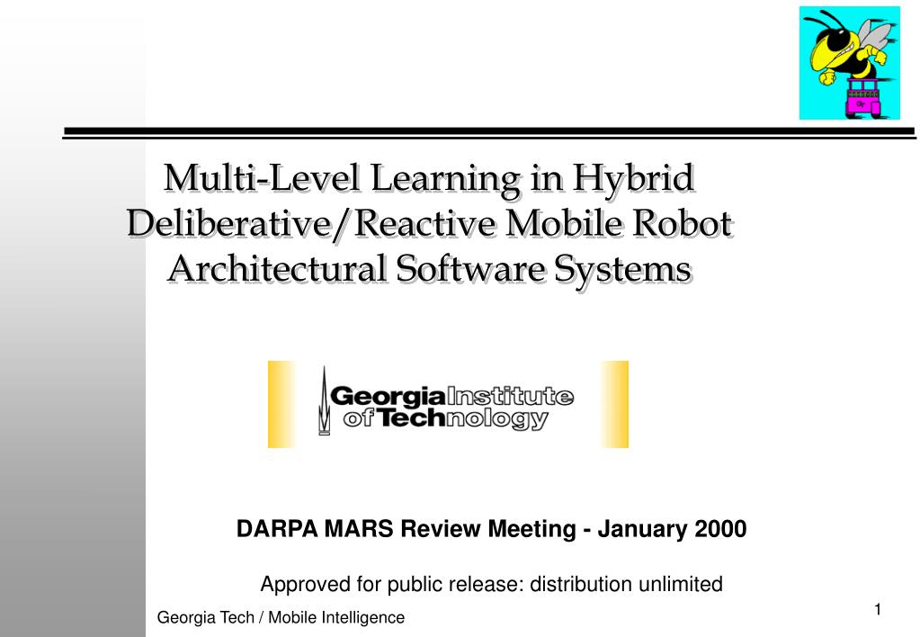 multi level learning in hybrid deliberative reactive mobile robot architectural software systems