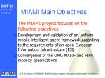 miami main objectives