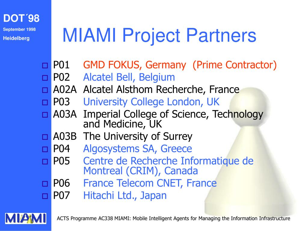 MIAMI Project Partners