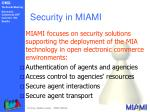 security in miami