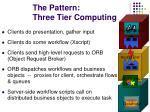 the pattern three tier computing