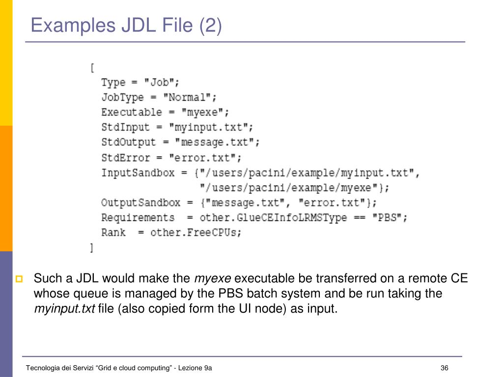 Examples JDL File (2)
