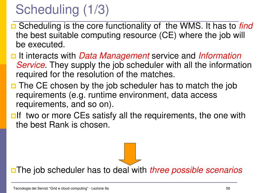 Scheduling (1/3)