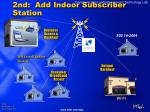 2nd add indoor subscriber station