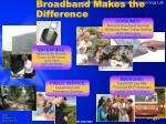 broadband makes the difference
