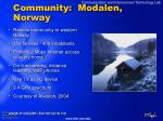 community modalen norway