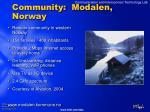 community modalen norway