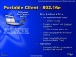 portable client 802 16e