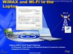 wimax and wi fi in the laptop