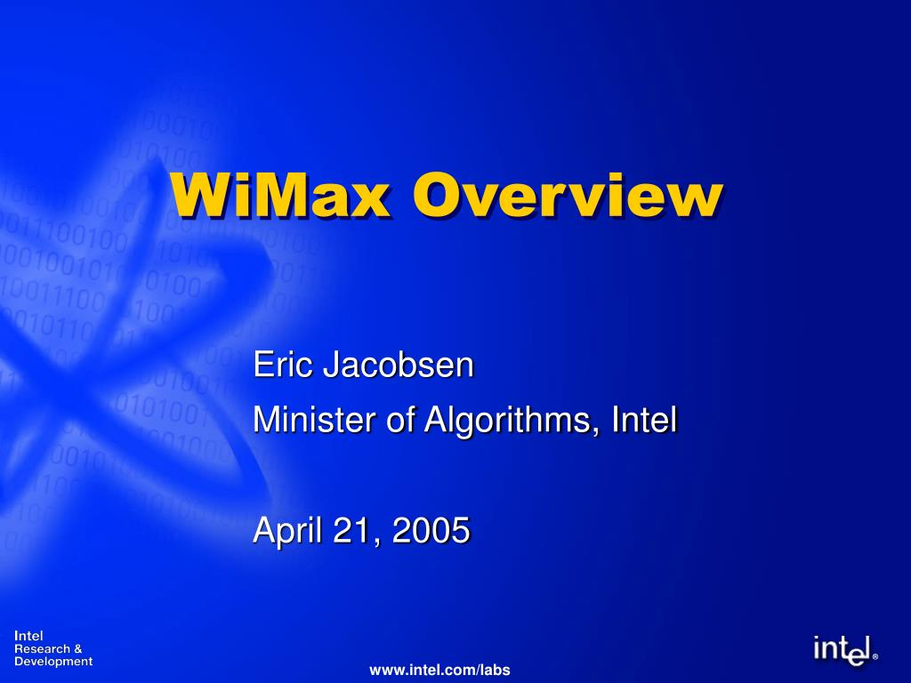 wimax overview l.