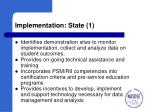 implementation state 1