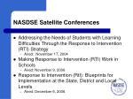 nasdse satellite conferences