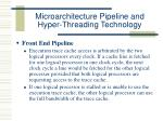 microarchitecture pipeline and hyper threading technology