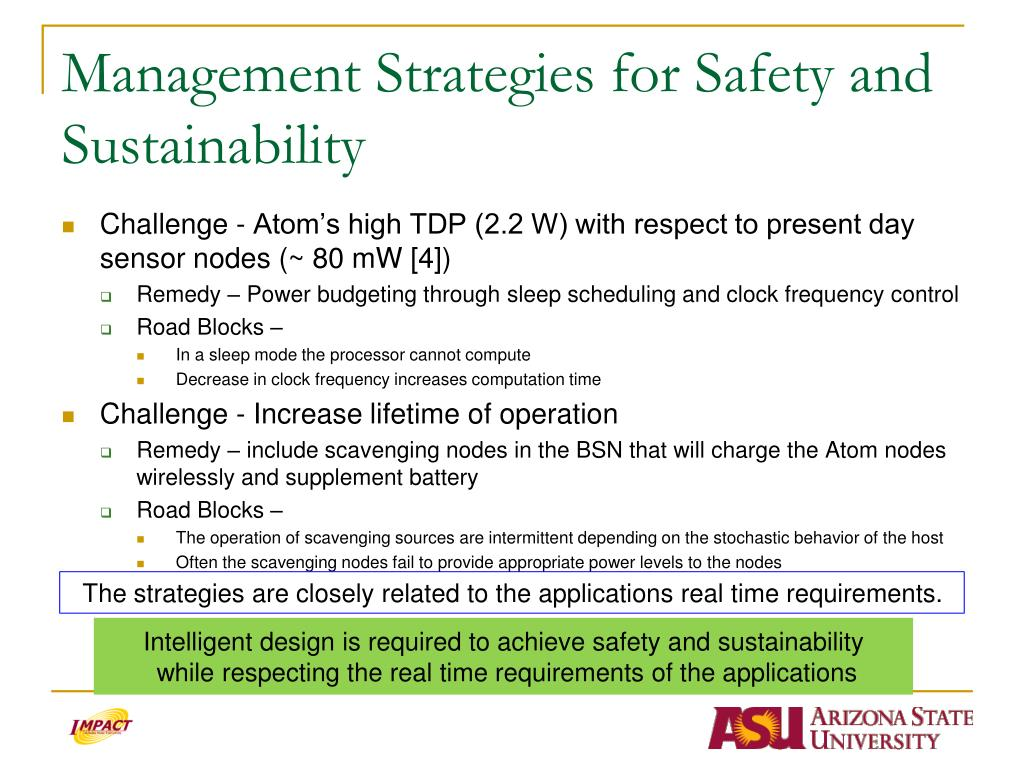 Management Strategies for Safety and Sustainability