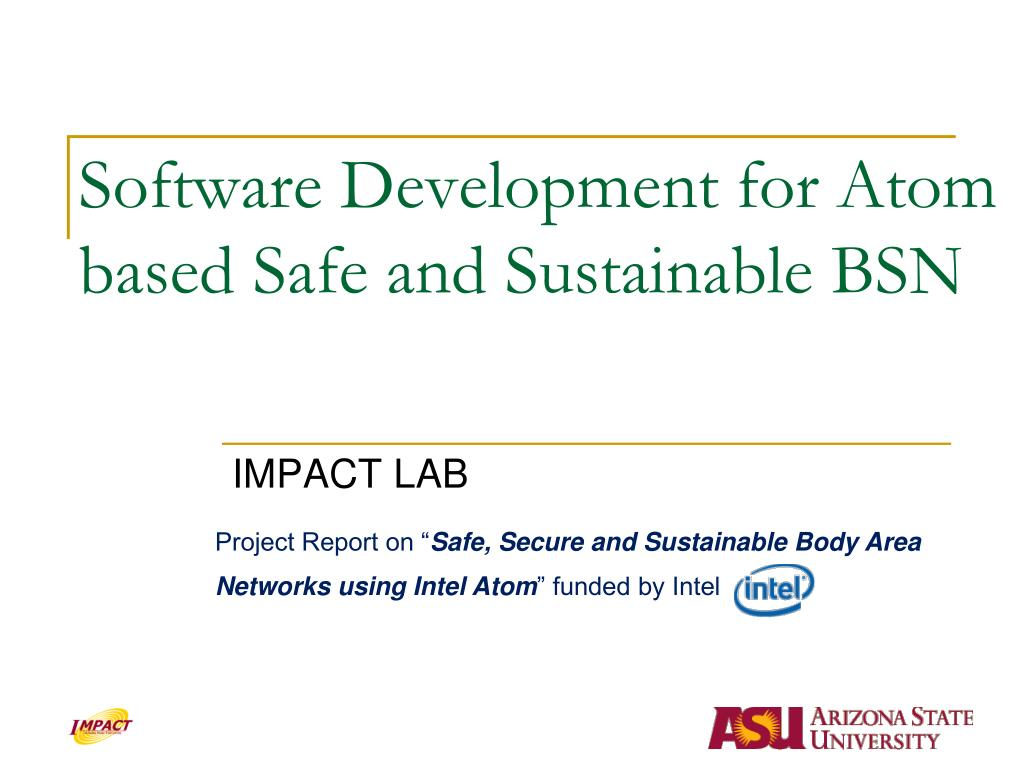 Software Development for Atom based Safe and Sustainable BSN