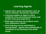 learning agents