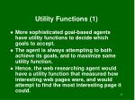utility functions 1