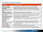 thinkpad usability attributes