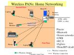 wireless pans home networking