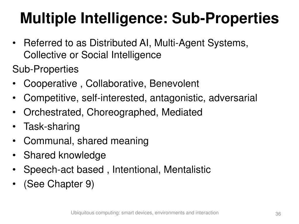 Multiple Intelligence: Sub-Properties