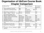 organisation of ubicom course book chapter comparison