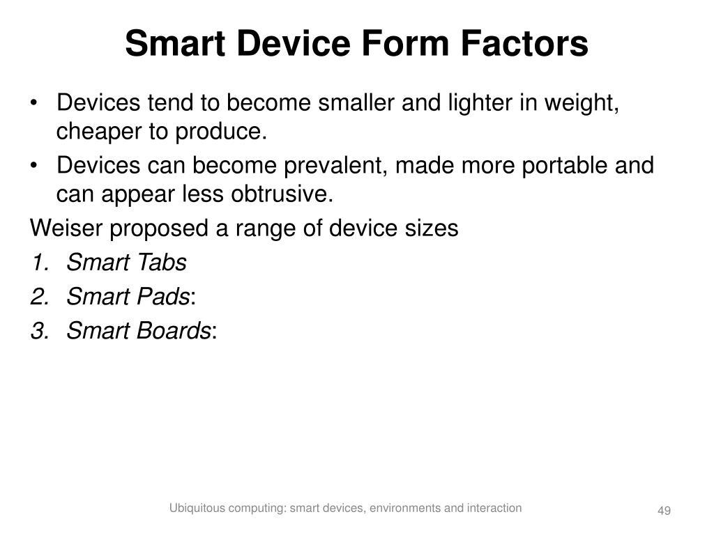 Smart Device Form Factors