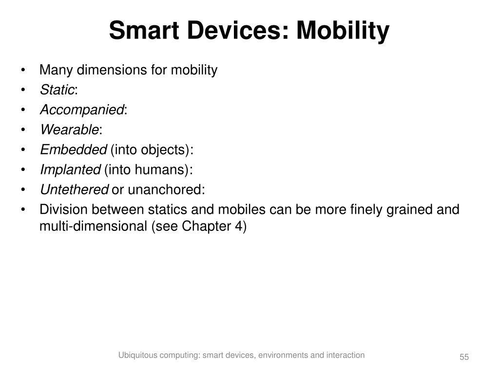 Smart Devices: Mobility