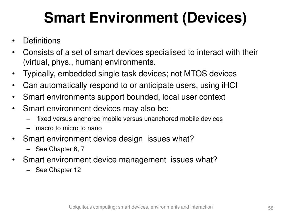 Smart Environment (Devices)