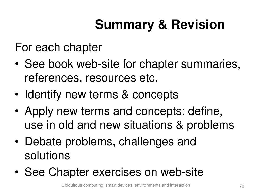 Summary & Revision