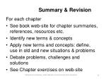summary revision