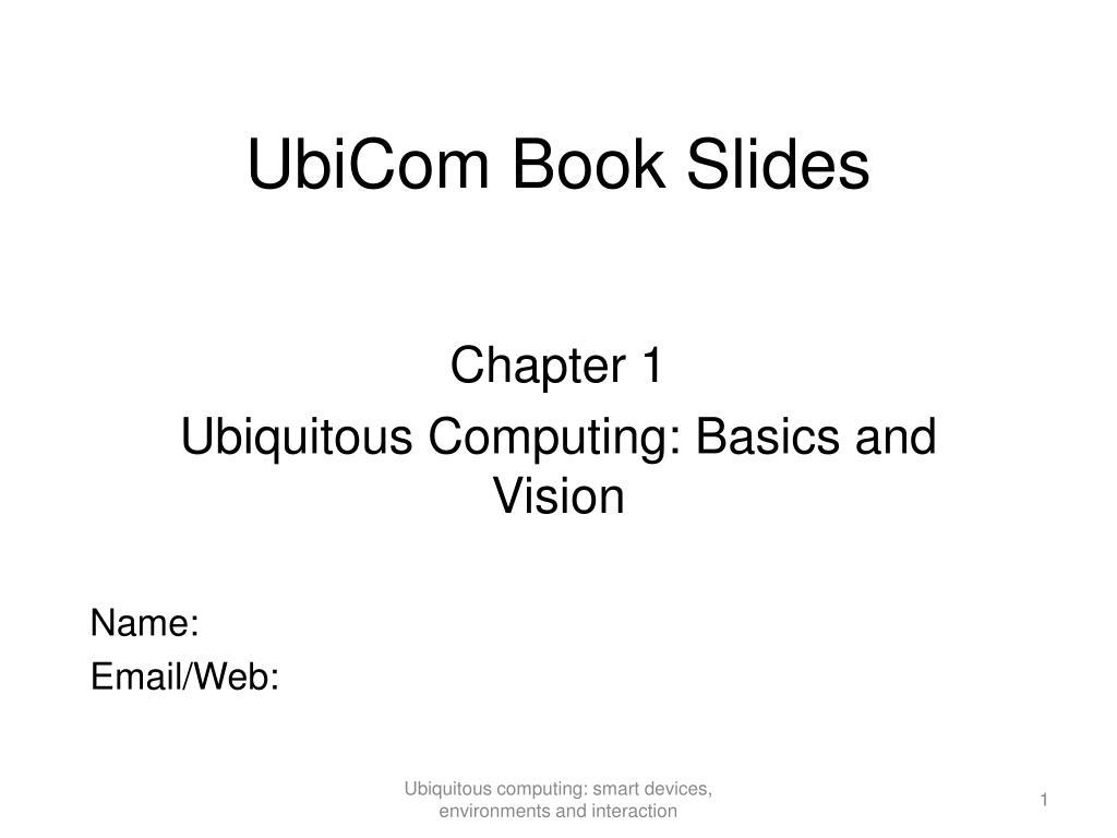 UbiCom Book Slides