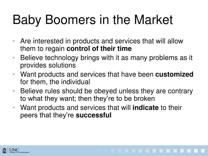 Baby Boomers in the Market