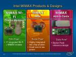 intel wimax products designs