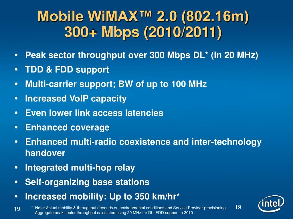 Mobile WiMAX™ 2.0 (802.16m)