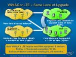wimax or lte same level of upgrade