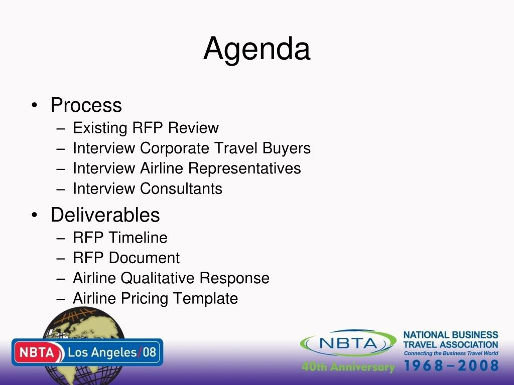 PPT - Airline RFPs For the 21 st Century PowerPoint