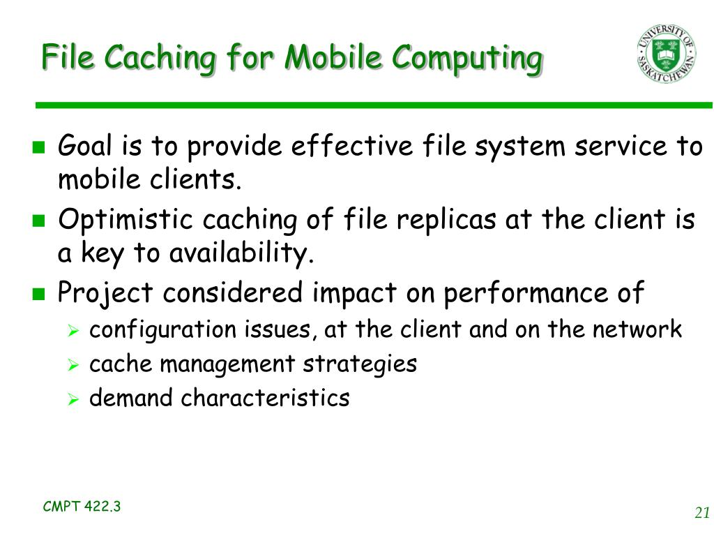 File Caching for Mobile Computing