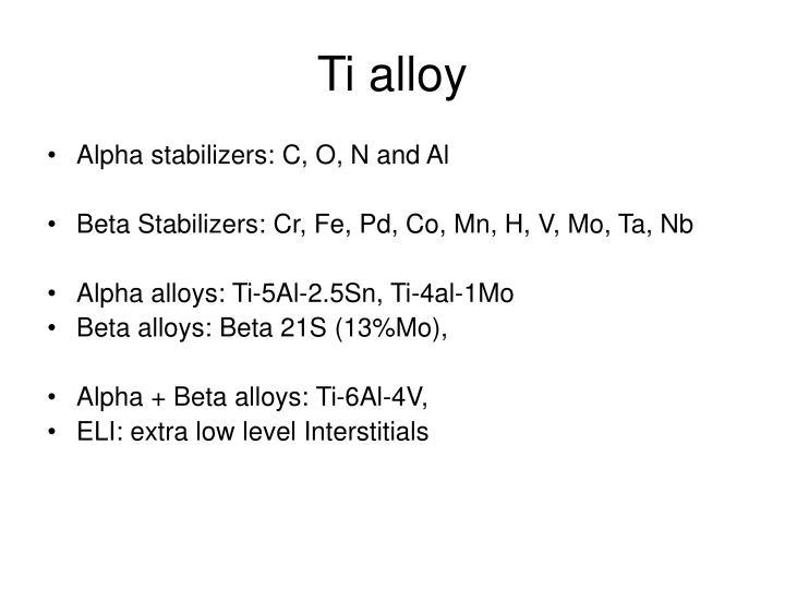 Ti alloy