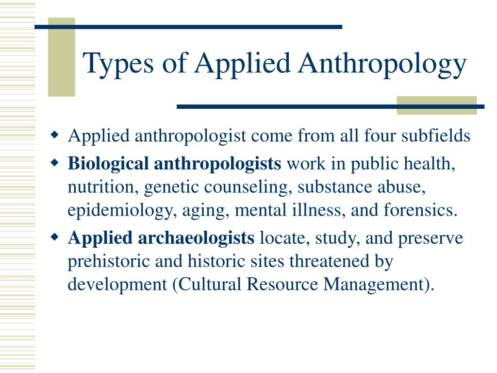 Biological Anthropology Examples